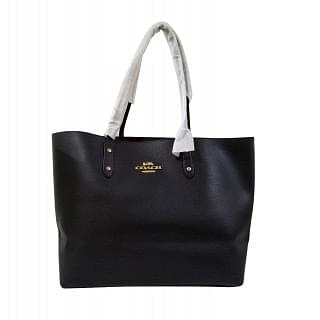 Coach Black Leather Town Tote