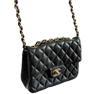Chanel Classic Black Quilted Leather Small Shoulder Bag