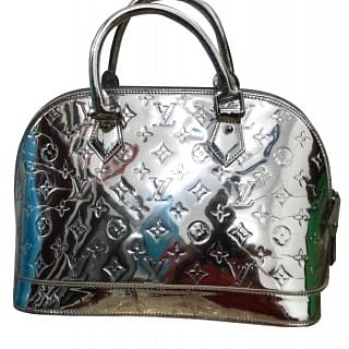 Louis Vuitton Limited Edition Silver Monogram Miroir Alma Bag
