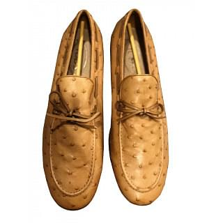 Tods Ostrich Leather Loafer