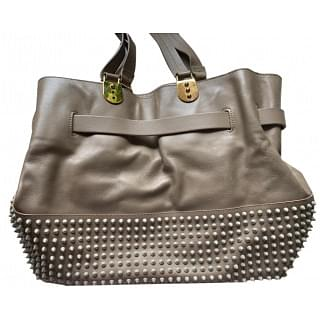 Christian Louboutin Sybil Paris Spikes Leather Tote