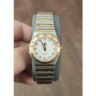Omega Yellow Gold and Silver Constellation Watch