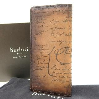 Berluti Santal Scritto leather long wallet