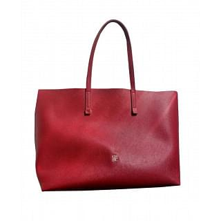 Carolina Herrera Red All Day Editors Medium Tote