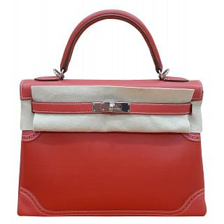Hermes 35cm Ghillies Kelly Retourne Bag with Palladium hardware