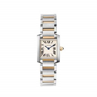 Cartier Tank Francaise Stainless Steel & 18K Yellow Gold Bracelet Watch