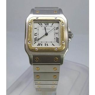 Cartier Santos Two Tone Stainless Steel And Gold Automatic