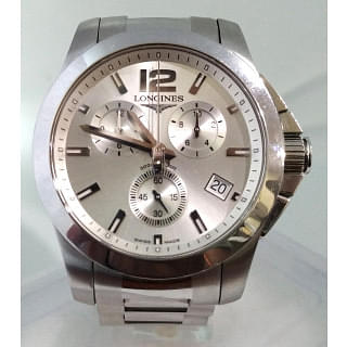 Longines Conquest Stainless Steel Mens Watch