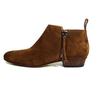 Gucci Brown Side Zip Ankle Boots