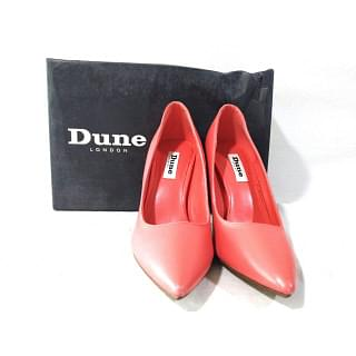 Dune London Red Alexxa High Point Court Pumps