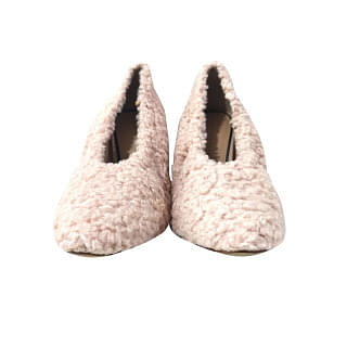 Zara Trafaluc Faux Fur High Heel Court Shoe
