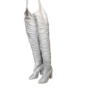 Overknee Thigh High Waist Belted Leather Boots