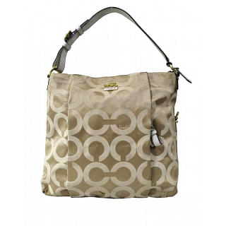 Coach Op Art Sateen Madison Isabelle Hobo Handbag