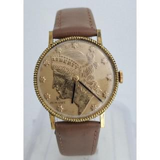 Rumanel Liberty Coin Winding Vintage Watch