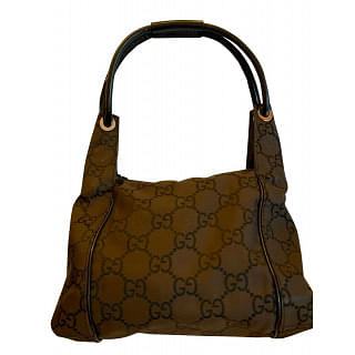 Gucci GG Brown Monogram Canvas Shoulder Bag