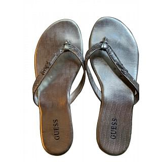 Guess Silver Slippers
