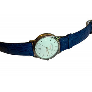 West End Blue Strap Leather Mens Watch