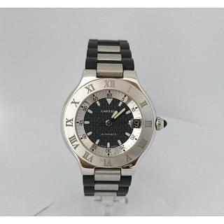 Cartier Must 21 Automatic Black Dial Watch 2427