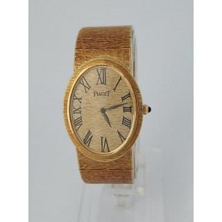 Piaget Oval Brushed Mesh-Link 18k Watch