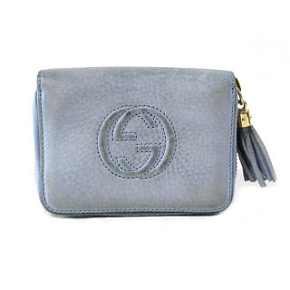 Gucci Leather Soho Zippy Compact Wallet