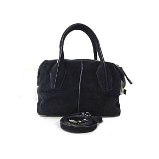 Tod's D-style North-south Suede Leather Satchel