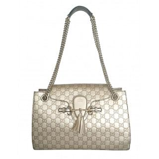 Gucci Guccissima Emily Large Chain Shoulder Bag