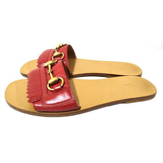 Gucci Varadero Leather Kiltie Slide