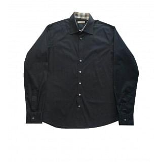 Burberry Black Button Down Mens Shirt