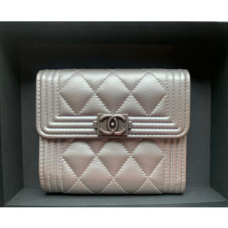 Chanel Boy Small Flap Compact Wallet