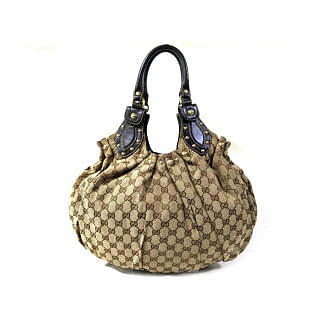 Gucci Pelham Beige GG Studded Hobo Bag