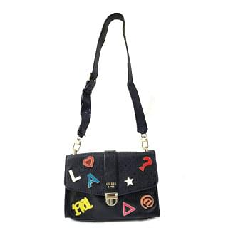 Guess Tabbi Black Logo Motif Shoulder Bag