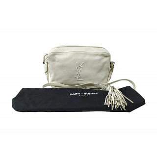 Yves Saint Laurent White Lou Camera Crossbody Bag