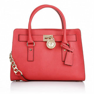 Michael Kors Hamilton Leather E/W Satchel