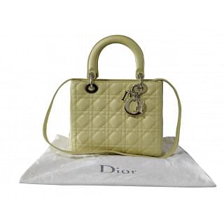 Dior Quilted Lambskin Leather Medium Lady Dior Bag
