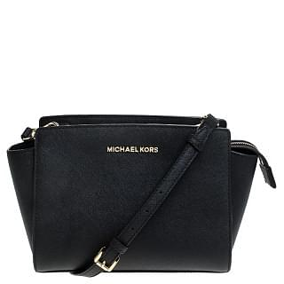 Micheal Kors Black Leather Small Selma Crossbody Bag