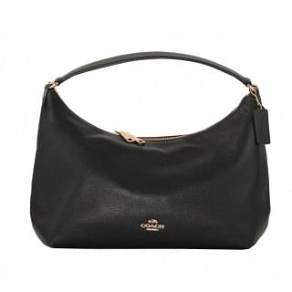Coach Celeste East West Leather Hobo Black Bag