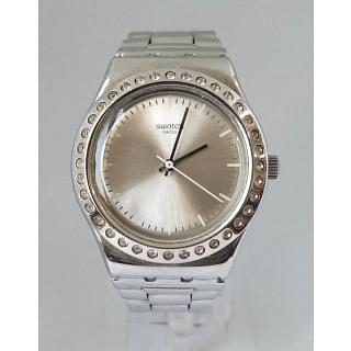Swatch Irony Silver Dial Stainless Steel Ladies Watch