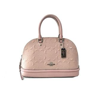 Coach Signature Mini Sierra Debossed Patent Leather Satchel