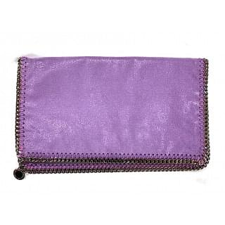 Stella McCartney Natural Falabella Fold-Over Clutch