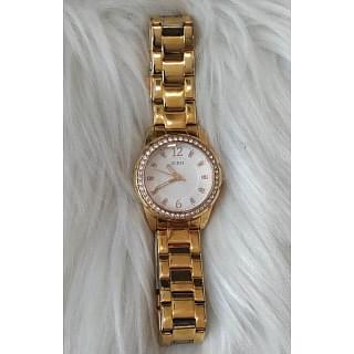 Guess U0445L3 White Dial Crystal Accent Ladies Watch