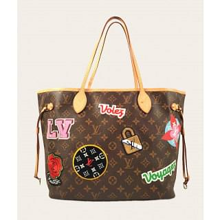 Louis Vuitton Limited Edition Monogram Canvas Patches Neverfull Bag