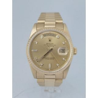 Rolex Day-Date President Diamond Dial 18K Gold