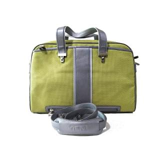 Tumi Green Briefcase