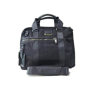 Tumi Black Alpha Bravo Charleston Compact Briefcase
