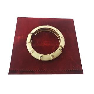 Salvatore Ferragamo Bracelet with white enamel