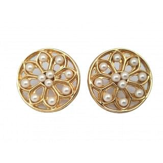 Chanel Vintage Pearl Round Large Earrings