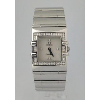 Omega Constellation Quadra Diamond 24MM Quartz