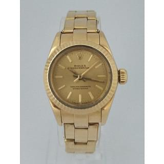 Rolex Ladies 18K Gold Oyster Perpetual