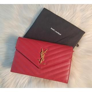 Yves Saint Laurent Monogram Matelasse Chain Wallet