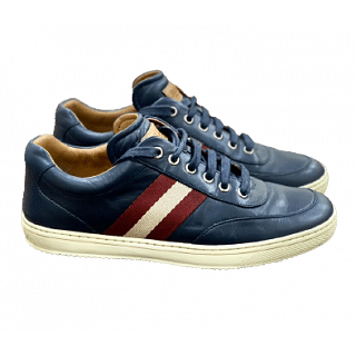 Bally Navy Blue Full Leather sneakers